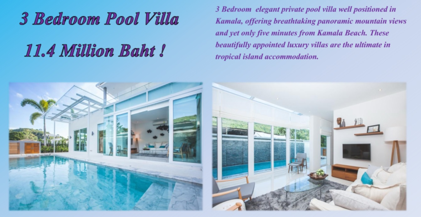 Promotion Sale 3 Bedroom Private Pool villa Kamala